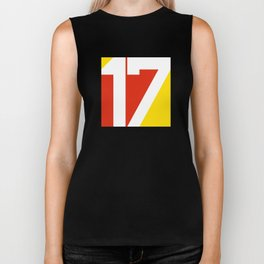 17 in Red and Gold Biker Tank