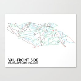 Vail, CO - Front Side - Minimalist Trail Map Canvas Print