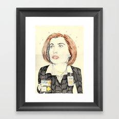 scully Framed Art Print