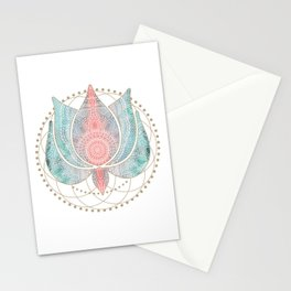 Yoga Lotus Stationery Cards