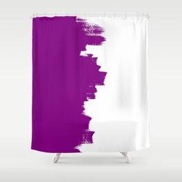 Purple balance Shower Curtain