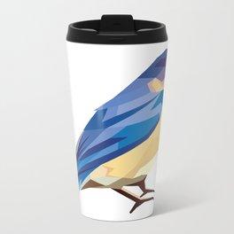 Blue Bird Metal Travel Mug
