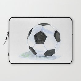 Soccer Ball Watercolor Laptop Sleeve