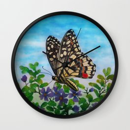 Chequered swallowtail  Wall Clock