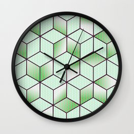Electric Cubic Knited Effect Design Wall Clock