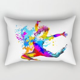 Hip hop dancer jumping Rectangular Pillow