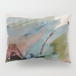 Begin again [2]: an abstract mixed media piece in a variety of colors Pillow Sham