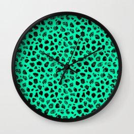 Crayon Rocks 15 | Black & Green Wall Clock