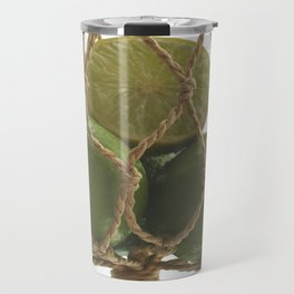 Fresh limes on the Net Travel Mug