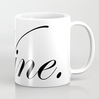 wine Mugs featuring Wine. by N140