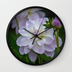 Porcelain Dahlia Wall Clock