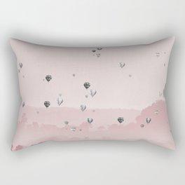 Mountain and balloons Rectangular Pillow