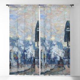 """Claude Monet """"La Gare Saint-Lazare, vue extérieure"""" Blackout Curtain"""