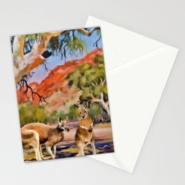 Red Kangaroo Stationery Cards