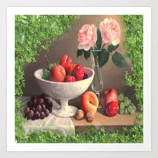 A Bowl Of Spring Fruit Delight Art Print