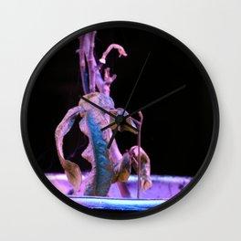 Purple longan tree Wall Clock