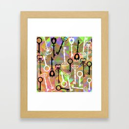 key pattern Framed Art Print