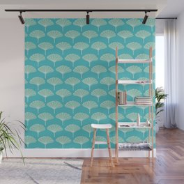 Green Ginkgo Leaves Pattern Wall Mural