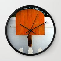 popsicle Wall Clocks featuring Popsicle  by Photaugraffiti