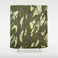 camouflage Shower Curtains featuring Camouflage  by Ethna Gillespie