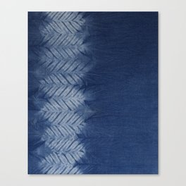 Shibori Chevron Stripe Canvas Print