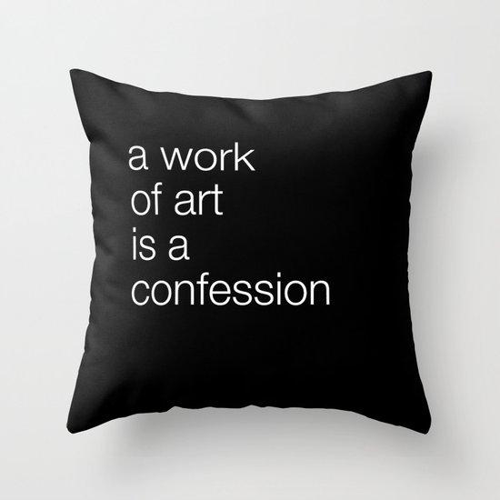 work of art black Throw Pillow