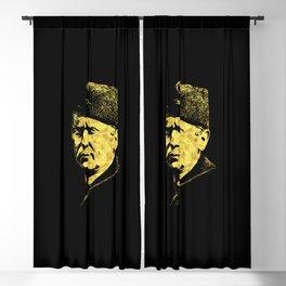 Josip Broz Tito Abstract Portrait President of Yugoslavia SFRJ Blackout Curtain