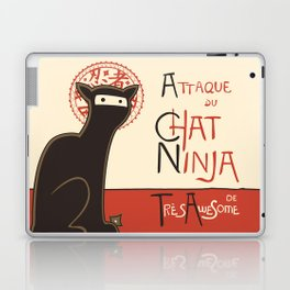 A French Ninja Cat (Le Chat Ninja) Laptop & iPad Skin