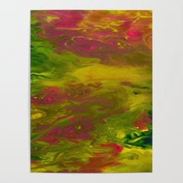 Colorful Abstract Acrylic Painting Poster