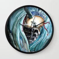 warrior Wall Clocks featuring Warrior by Anna Pietrawska