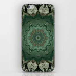 The Green Unsharp Mandala 3 iPhone Skin