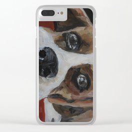 Picture, art work, oil painting, animal, dog, beagle Clear iPhone Case