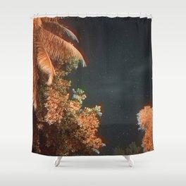 Seychellian palmtrees and the Milky Way Shower Curtain