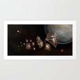 A Lightsail Tour of Centauri System Art Print