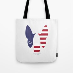 Boston Terrier: American Flag. Tote Bag