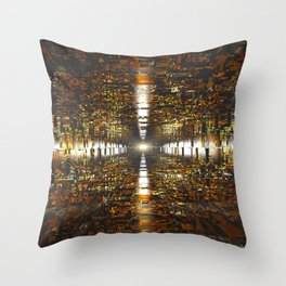 Amber Tunnel Throw Pillow