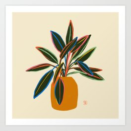 PLANT WITH COLOURFUL LEAVES  Art Print