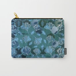 Mosaic Ginkgo (Sapphire Blue) Carry-All Pouch