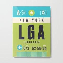 Luggage Tag A - LGA New York LaGuardia USA Metal Print