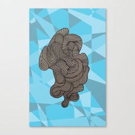 Ocean Swirls Canvas Print