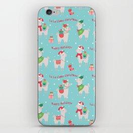 Christmas llamas IV iPhone Skin
