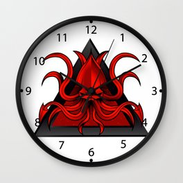 kraken illustration Wall Clock