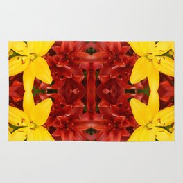 """""""A Gathering of Lilies"""" Remix - 3 (2-1) [D4468~49] Rug"""