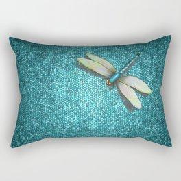 Dragonfly Mosaic Rectangular Pillow