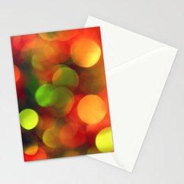 Bokeh Christmas Lights Stationery Cards
