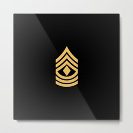 1st Sergeant (Gold) Metal Print