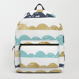 Golden Pastel Clouds Backpack