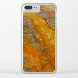 Color of Yellowstone National Park Gold Water Clear iPhone Case