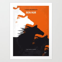 No989 My Ben Hur minimal movie poster Art Print
