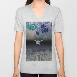 A Skydiver Between Two Parallel Universes Unisex V-Neck